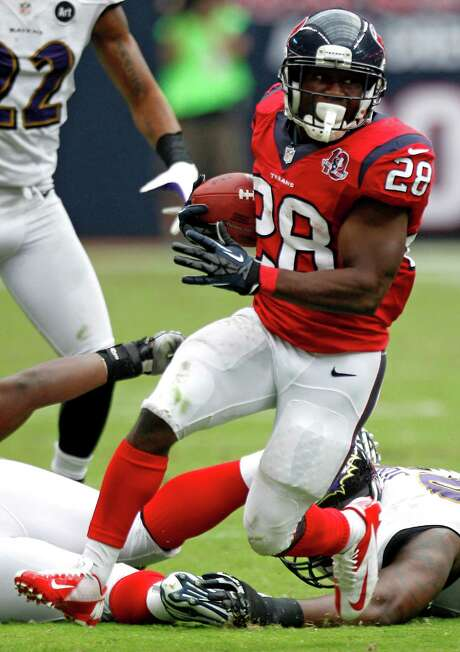 Justin Forsett knows he must make the most of the few opportunities to shine he receives as the Texans' third-string running back. Photo: Brett Coomer, Staff / © 2012  Houston Chronicle