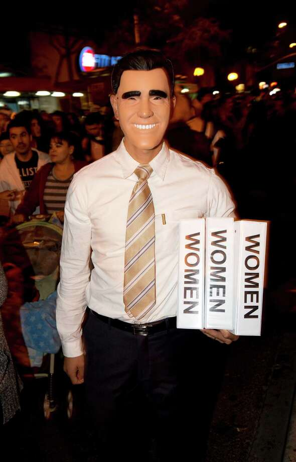 Binders full of women: After Mitt Romney used the phrase in a presidential debate, everyone from bloggers to Halloween revelers was bound to have a lot of fun. Photo: ROBYN BECK, AFP/Getty Images / AFP
