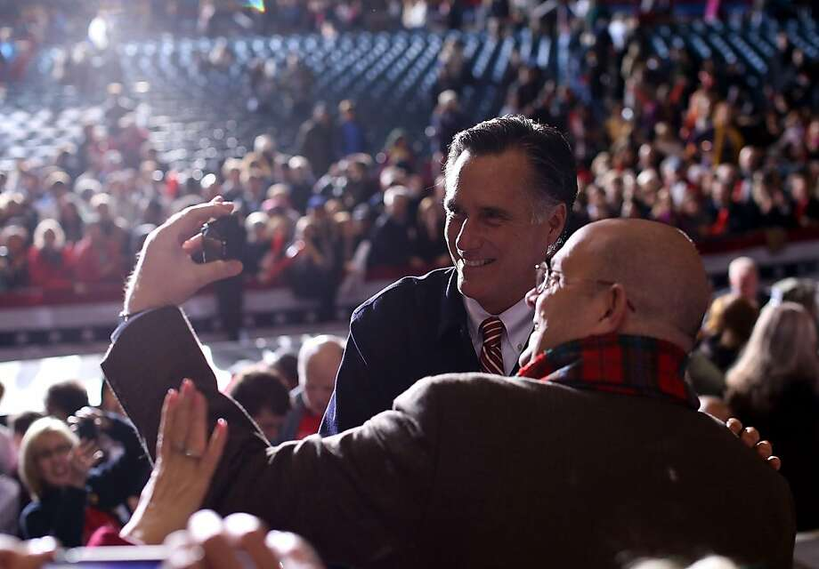 GOP presidential candidate and former Massachusetts Gov. Mitt Romney campaigns in Virginia Beach. An upward creep of just a few tenths of a percent in Friday's jobs report could have a huge impact on the candidates' campaigns in the closing days. Photo: Justin Sullivan, Getty Images