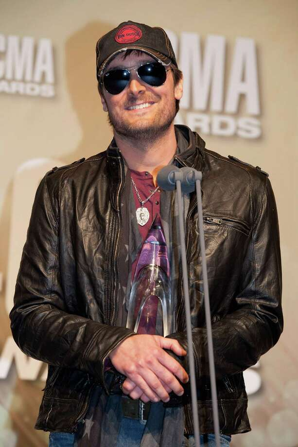 "NASHVILLE, TN - NOVEMBER 01:  Eric Church poses with his Album of the Year award for ""Chief"" at the 46th annual CMA Awards at the Bridgestone Arena on November 1, 2012 in Nashville, Tennessee. Photo: Erika Goldring, Getty Images / 2012 Getty Images"