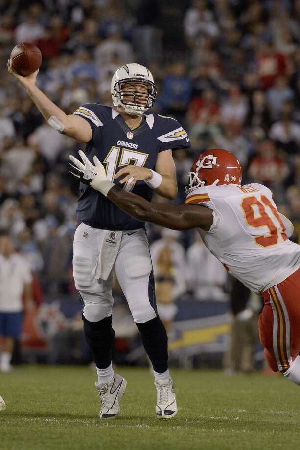 SAN DIEGO, CA - NOVEMBER 1: Philip Rivers #17 of the San Diego Chargers throws the ball against the Kansas City Chiefs on November 1, 2012 at Qualcomm Stadium in San Diego, California. (Photo by Donald Miralle/Getty Images) Photo: Donald Miralle