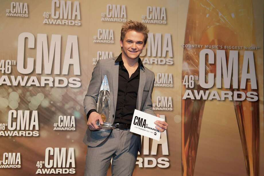 NASHVILLE, TN - NOVEMBER 01:  Hunter Hayes poses with his New Artist of the Year award at the 46th annual CMA Awards at the Bridgestone Arena on November 1, 2012 in Nashville, Tennessee. Photo: Erika Goldring, Getty Images / 2012 Getty Images