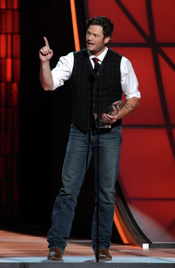 NASHVILLE, TN - NOVEMBER 01:  Blake Shelton accepts an award onstage during the 46th annual CMA Awards at the Bridgestone Arena on November 1, 2012 in Nashville, Tennessee. Photo: Jason Kempin, Getty Images / 2012 Getty Images
