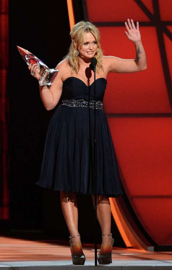 NASHVILLE, TN - NOVEMBER 01:  Miranda Lambert accepts an award onstage during the 46th annual CMA Awards at the Bridgestone Arena on November 1, 2012 in Nashville, Tennessee. Photo: Jason Kempin, Getty Images / 2012 Getty Images