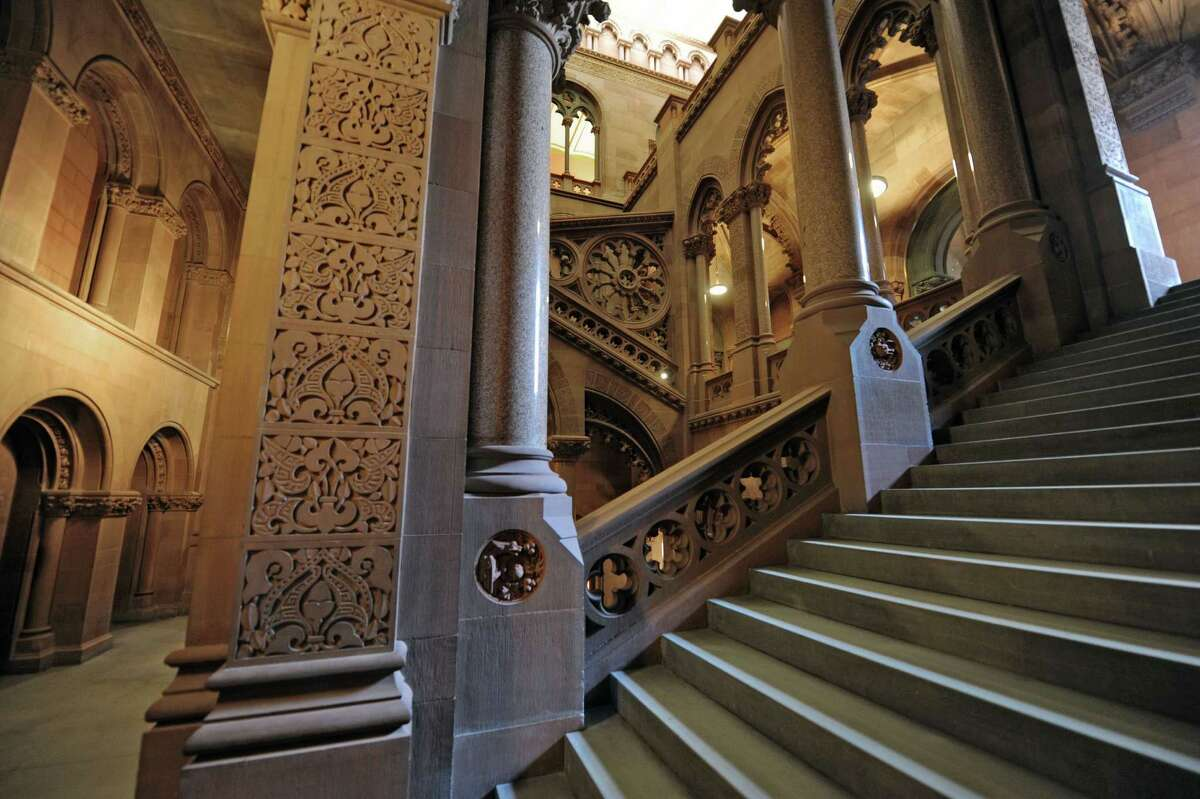 A view of the stairwell on the Senate side of the capitol building on Wednesday, Oct. 31, 2012 in Albany, NY. (Paul Buckowski / Times Union)