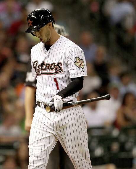 Center fielder Jordan Schafer is headed back to Atlanta after being claimed off waivers from the Astros. Photo: Karen Warren, Staff / © 2012  Houston Chronicle