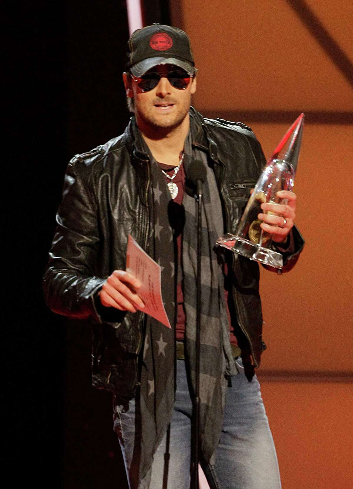 Eric Church accepts the award for album of the year for