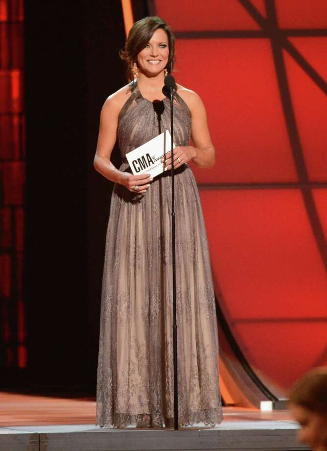 NASHVILLE, TN - NOVEMBER 01:  Martina McBride speaks onstage during the 46th annual CMA awards at the Bridgestone Arena on November 1, 2012 in Nashville, United States. Photo: Jason Kempin, Getty Images / 2012 Getty Images
