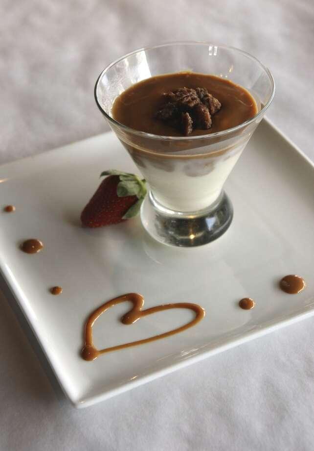 Ciao Lavanderia's Pecan Praline Panna Cotta. See recipe below. (Helen L. Montoya / San Antonio Express-News)