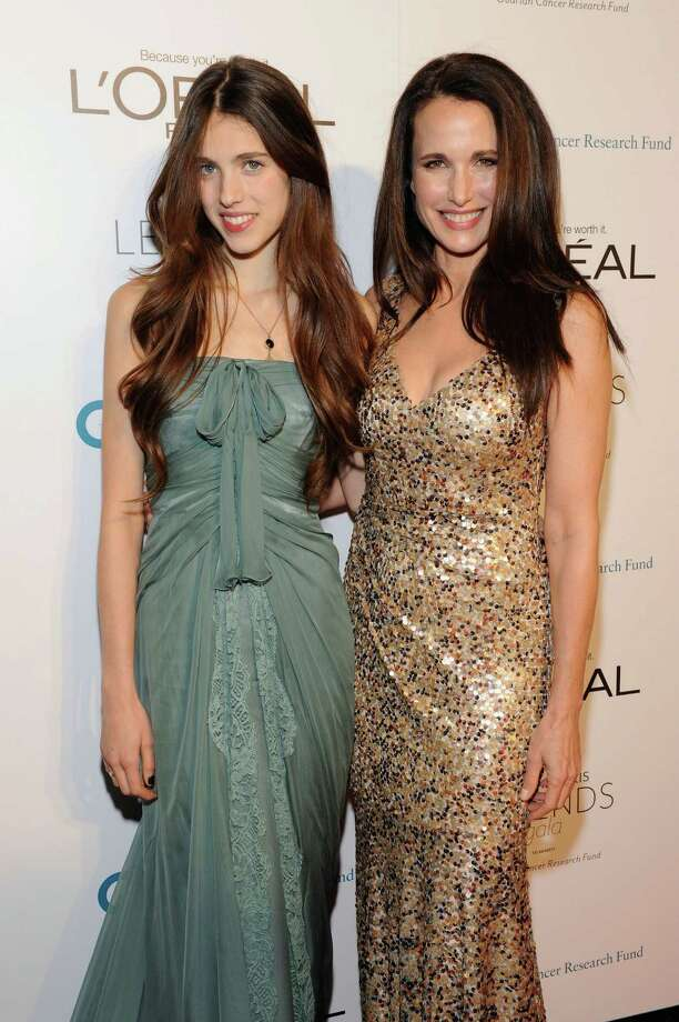 "Margaret Qualley is daughter of model/L'Oreal spokeswoman and ""St. Elmo's Fire"" actresss Andie MacDowell  (Eugene Gologursky / 2011 Getty Images) Photo: Eugene Gologursky, Getty Images For Ovarian Cancer / 2011 Getty Images"