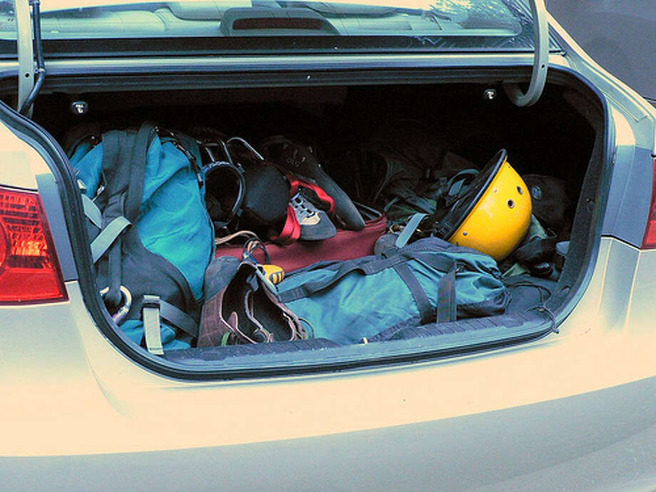Clean out your trunk:  Gas mileage can be hurt by extra junk in your car. If you remove the unnecessary stuff from your trunk, you can boost your gas mileage by one to two percent.  (Hoi polloi / Flickr)