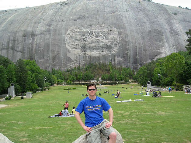"GEORGIA: Stone Mountain was dedicated in 1972 with a memorial to Jefferson Davis, Robert E. Lee and Stonewall Jackson. Martin Luther King mentioned it in his 1963 ""I Have A Dream"" speech. ChrisYunker/Flickr Creative Commons"
