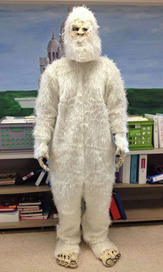 James Galarneau, senior at Cohoes High School, as the abominable snowman. Photo by Jenna Colozza/New Visions: Journalism & Media Studies Photo: New Visions: Journalism & Media Studies