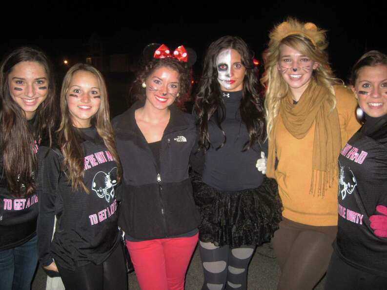 : From left to right: Diana DiCocco, Alyssa Heinrichs, Rosa D'Ambrosio, Rachael Gac and Sarah Sroc