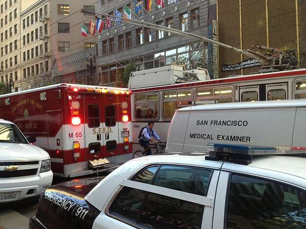 Muni subway service shut down between West Portal and Embarcadero stations after a man was hit and killed by a Muni Metro train near Montgomery station Friday morning. Photo: Will Kane, The Chronicle
