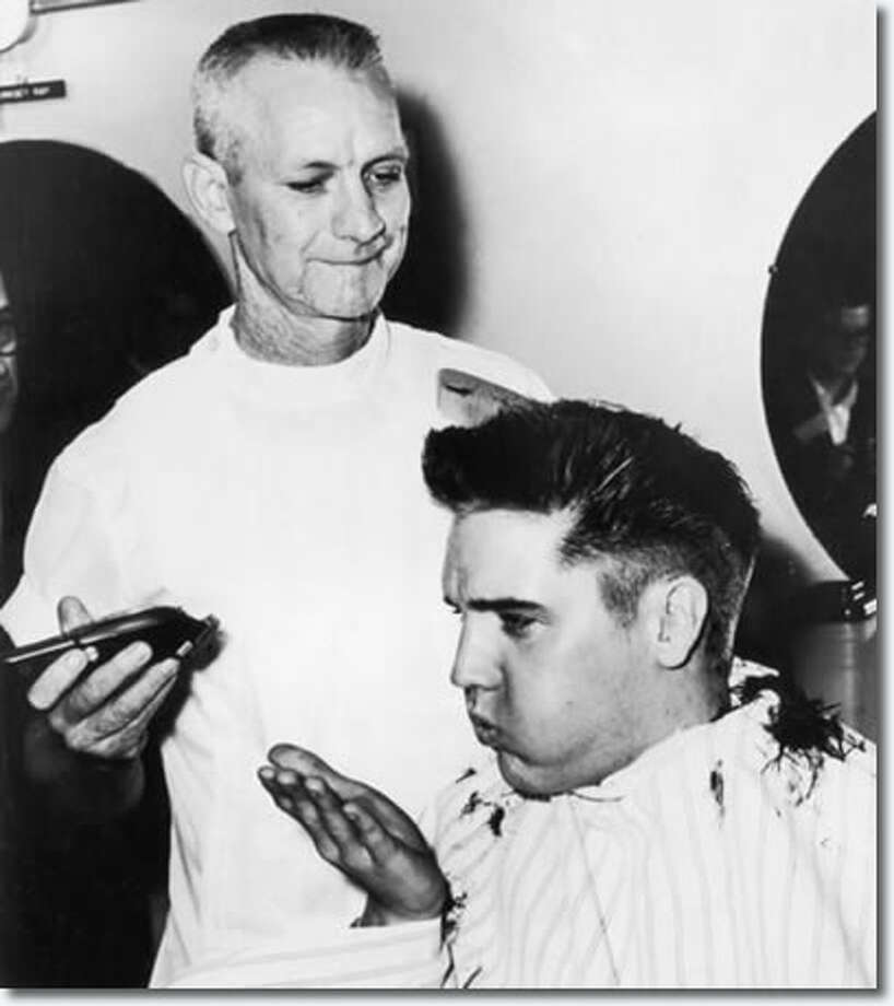 ARKANSAS: My how time flies. Nearly 55 years ago, Elvis Presley reported at Fort Chaffee to join the Army and have this famous haircut. It's so famous, there's a museum on the spot now. (Fort Chaffee Barbershop Museum)