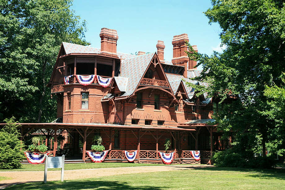 "CONNECTICUT: Mark Twain said, ""May you always keep your youth,"" and this house in Hartford looks great at 138 years old. He said he lived the happiest years of his life at this address."