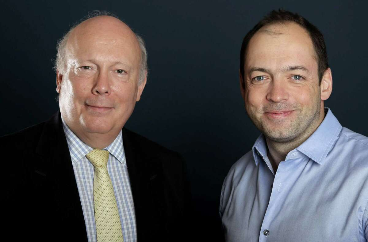 Writer and producer Julian Fellowes, left, and producer Gareth Neame, from
