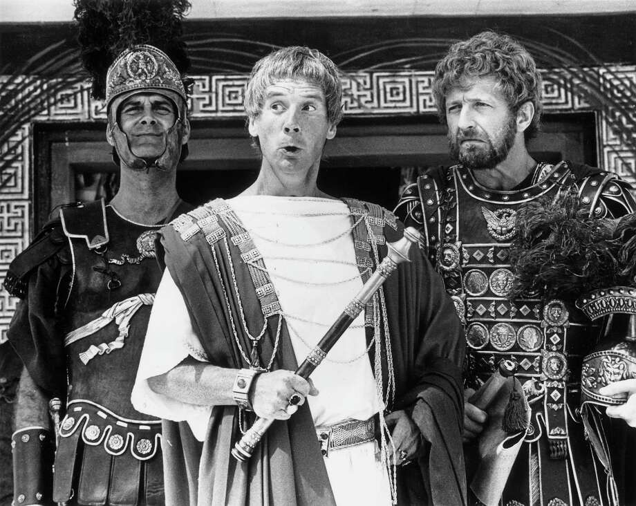 "Monty Python was back in 1979 with ""Life of Brian,"" which stirred a little controversy. A chorus of ""Always Look on the Bright Side of Life"" anyone? From left: John Cleese, Michael Palin and Graham Chapman Photo: Evening Standard, Getty / Hulton Archive"