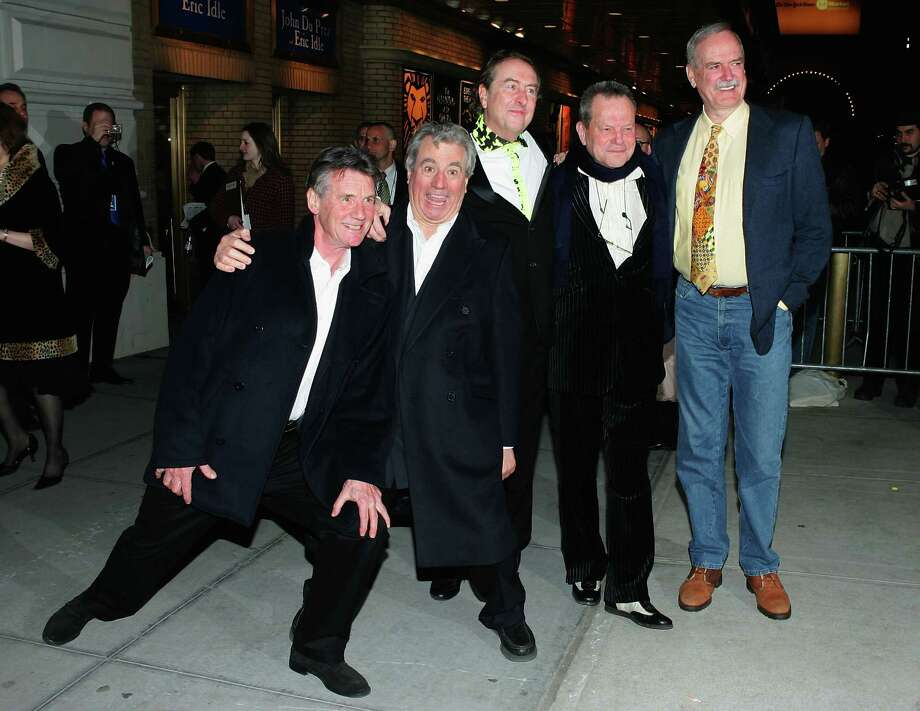 "TV, movies. And then it wasn't safe to go to Broadway. Monty Python Michael Palin, Terry Jones, Eric Idle, Terry Gilliam and John Cleese attend the opening night of ""Monty Python's Spamalot"" at the Shubert Theatre March 17, 2005, in New York City. Photo: Evan Agostini, Getty / 2005 Getty Images"