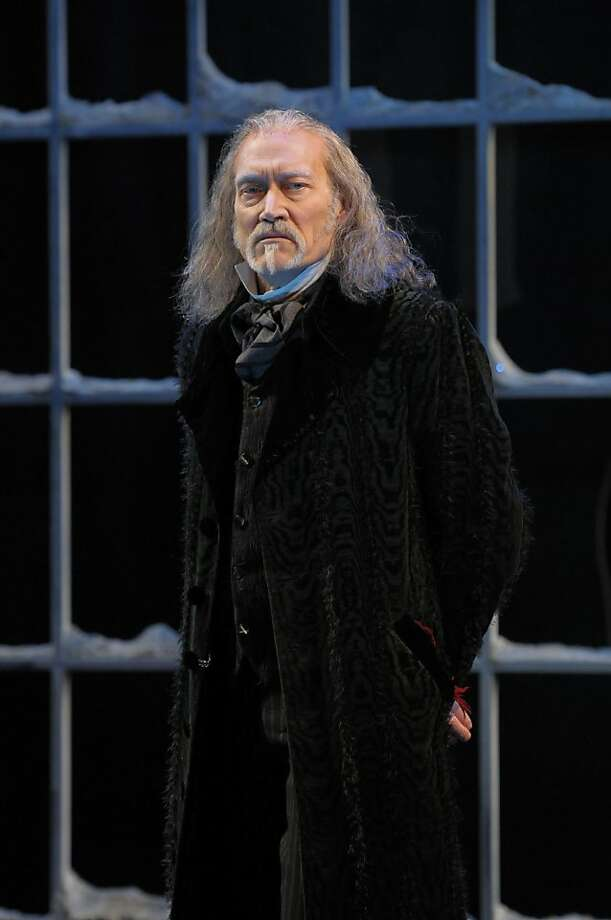 "James Carpenter as Ebenezer Scrooge in the 2011 version of ACT's ""A Christmas Carol."" Photo: Kevin Berne"