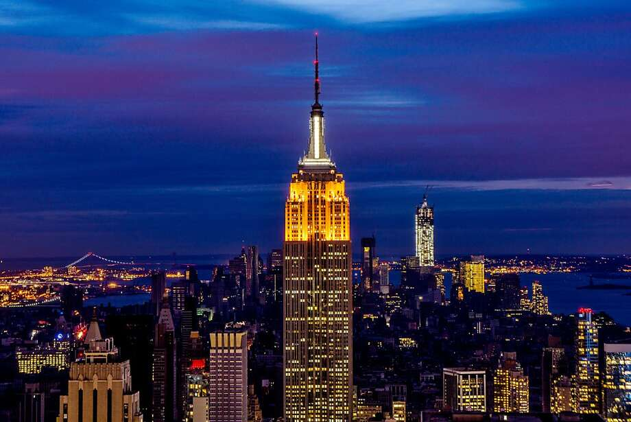 Big city, semi-bright lights:The Midtown skyline shines in the November night as Lower Manhattan remains mostly without power. Electricity was to have been restored by Friday night. Photo: Afton Almaraz, Getty Images
