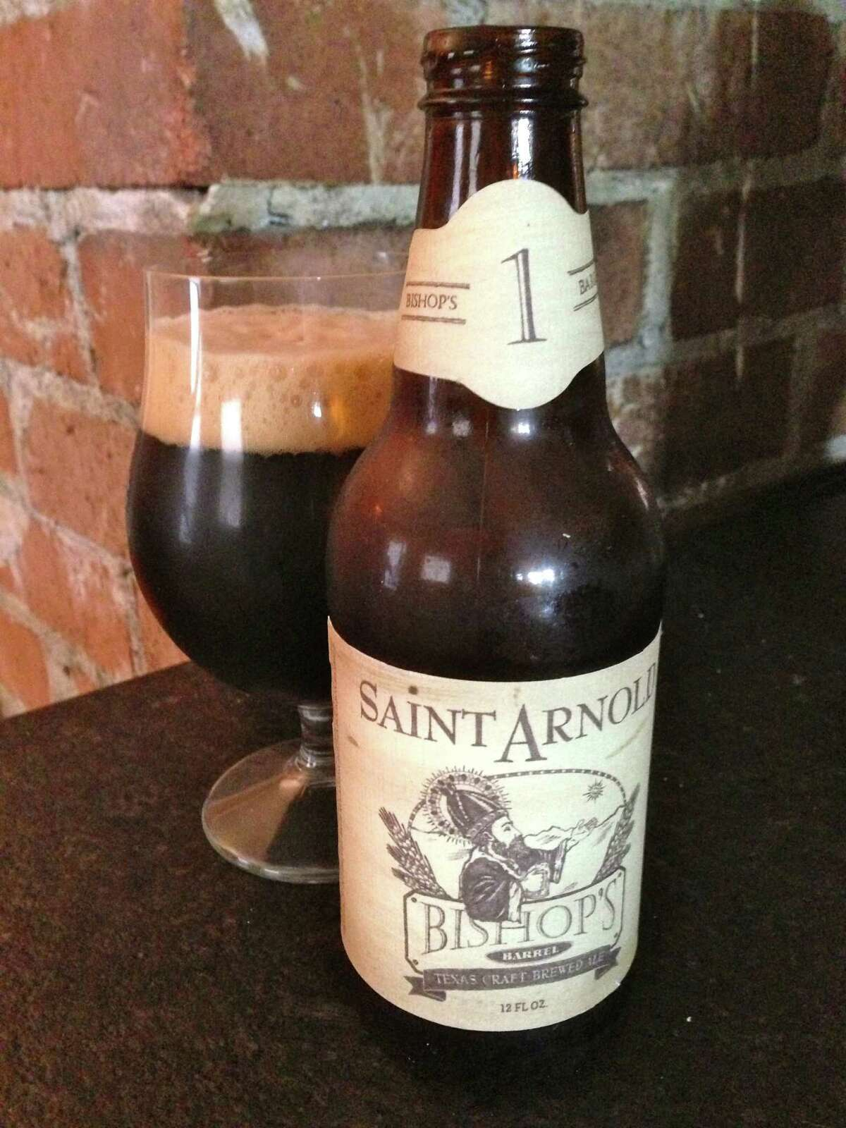 The first in Saint Arnold Brewing's Bishop's Barrel series of barrel-aged beers is scheduled for release in pubs and restaurants on Nov. 5, 2012.