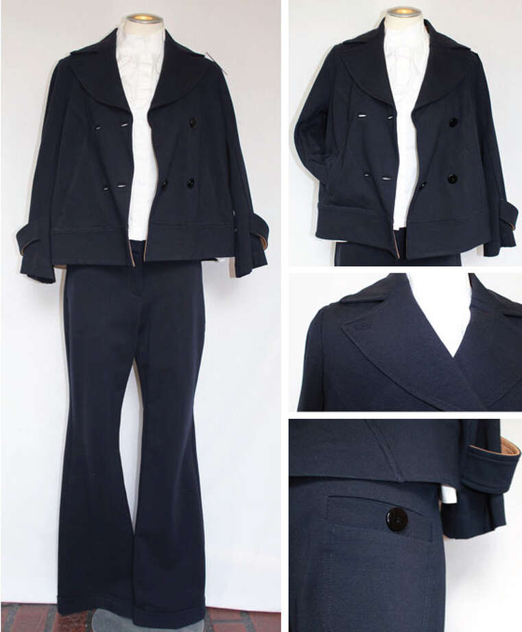 Diane von Furstenberg navy suit Photo: Lauren Robinson/Seattle Goodwill