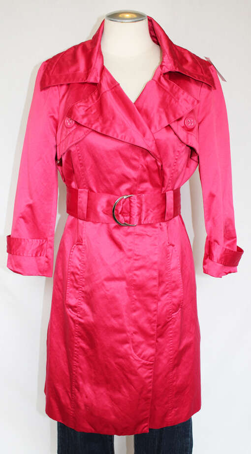 bebe pink trench Photo: Lauren Robinson/Seattle Goodwill