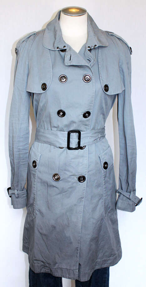 Burberry blue/grey ombré trench Photo: Lauren Robinson/Seattle Goodwill