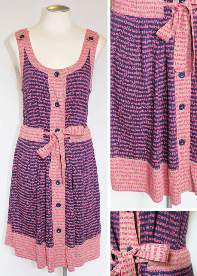 Marc Jacobs casual pink and purple patterned dress Photo: Lauren Robinson/Seattle Goodwill