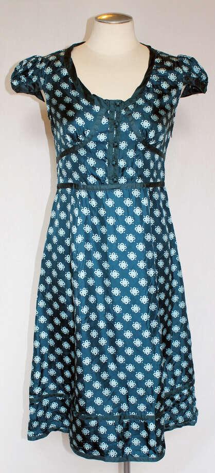Marc Jacobs blue silk dress Photo: Lauren Robinson/Seattle Goodwill