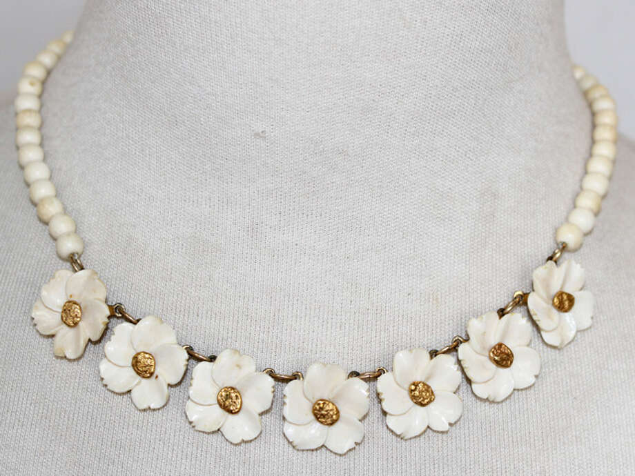 Ivory flower necklace Photo: Lauren Robinson/Seattle Goodwill