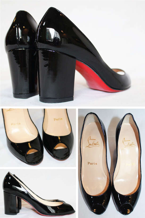 Christian Louboutin shoes with patent leather and a chunky heel Photo: Lauren Robinson/Seattle Goodwill
