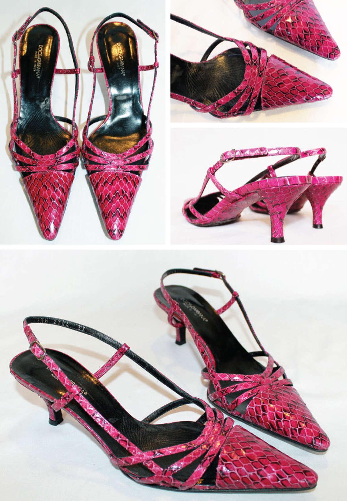Pink Dolce & Gabbana strappy heels.