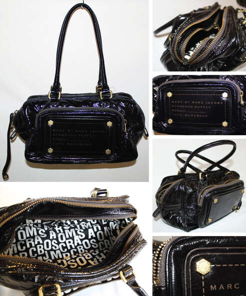 Marc Jacobs black patent leather purse