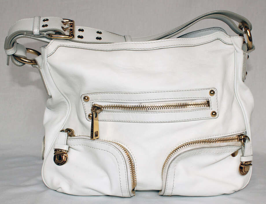 Marc Jacobs white leather bag Photo: Lauren Robinson/Seattle Goodwill
