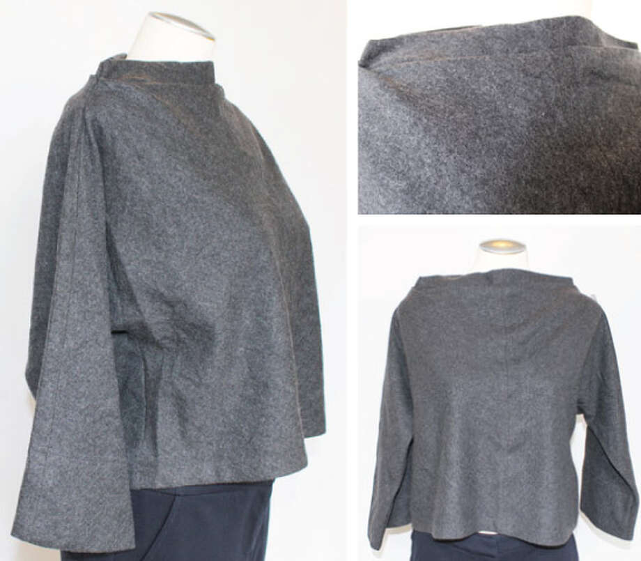 Diane von Furstenberg gray wool cape Photo: Lauren Robinson/Seattle Goodwill