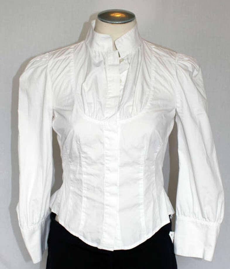 Diane von Furstenberg white dress shirt Photo: Lauren Robinson/Seattle Goodwill