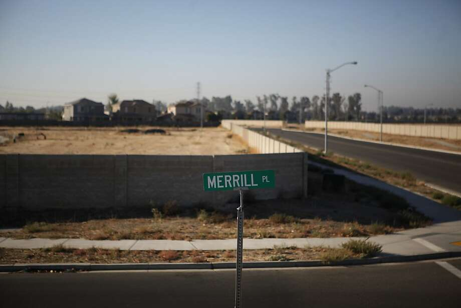 Vacant lots sit where homes were schedule to be built on the north side of Merced on Tuesday Oct. 30, 2012. Merced County is littered with hundreds of acres of these once well intended new neighborhoods.   Merced County in California's central Valley is one of the hardest hit communities when it comes to the nations unemployment and foreclosed crisis. Photo: Mike Kepka, The Chronicle