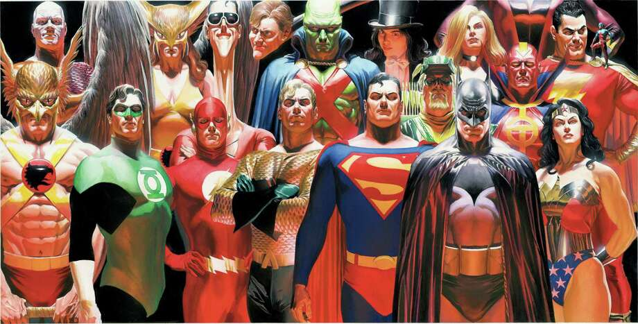 "Alex Ross, ""Justice Vol. 1"" paperback cover, 2006, courtesy of the artist, ? & © DC Comics. Used with permission."