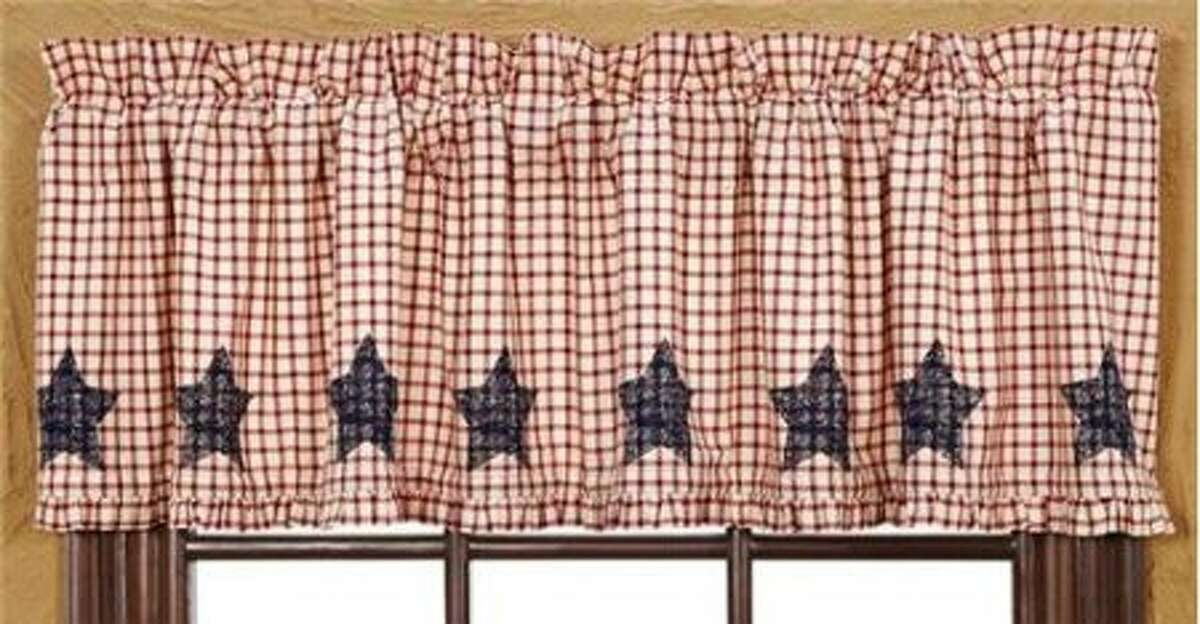 Stars-and-stripes valance