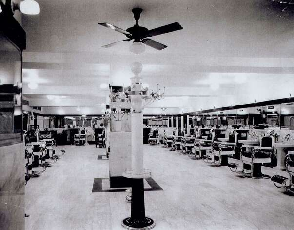 The 1930s version of the Gunter Hotel Barbershop, courtesy of barber Dave Luce. Photo: COURTESY PHOTO