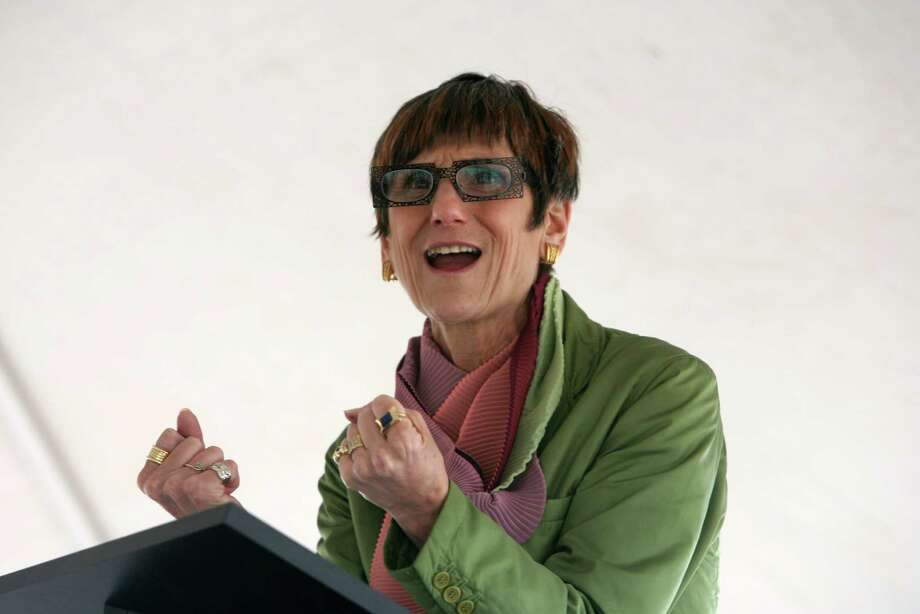 U.S. Congresswoman Rosa DeLauro speaks at a ceremony to honor the Long Beach West Restoration Team in Stratford on Monday, June 4, 2012. The team was given the Coastal America Partnership Award for their work restoring a barrier beach in Stratford. Photo: B.K. Angeletti, B.K. Angeletti/file Photo / Connecticut Post