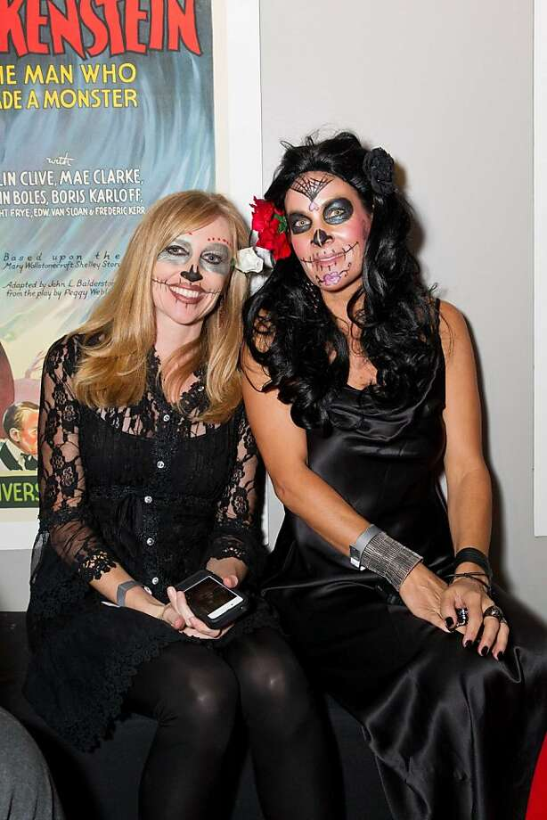 Halloween, schmalloween. Susan Cooper-Smith and Dianna Cooper-Smith decided to party on Nov. 1 at a Day of the Dead fete for Kirk Hammett's new horror book, held at Public Works in the Mission. Photo: Drew Altizer Photography