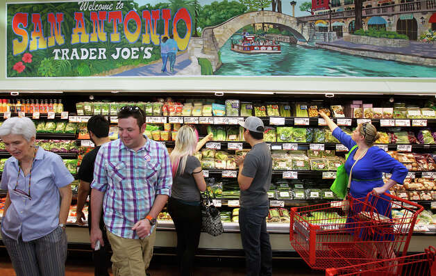 Trader Joe's at 350 East Basse Road opens for business on November 2, 2012. Photo: Tom Reel, San Antonio Express-News / ©2012 San Antono Express-News