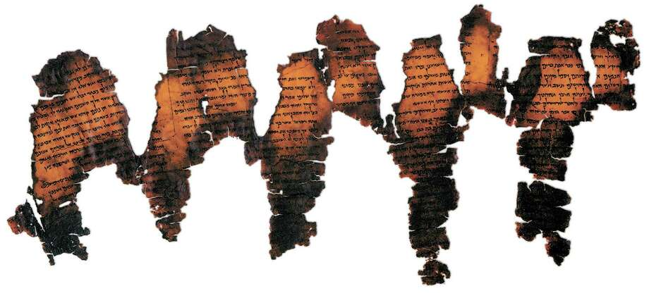 This 2,000-year-old Dead Sea Scroll fragment displayed at Southwestern Baptist Theological Seminary in Fort Worth is on loan from The Institute of Archaeology at The Hebrew University of Jerusalem. Photo: Courtesy, Gabi Laron
