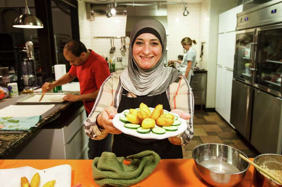 Manal Al-Alem developed a passion for cooking at an early age, saving her money to buy subscriptions to Bon Appétit and Southern Living to see the recipes. Photo: Michael Paulsen, Staff / © 2012 Houston Chronicle