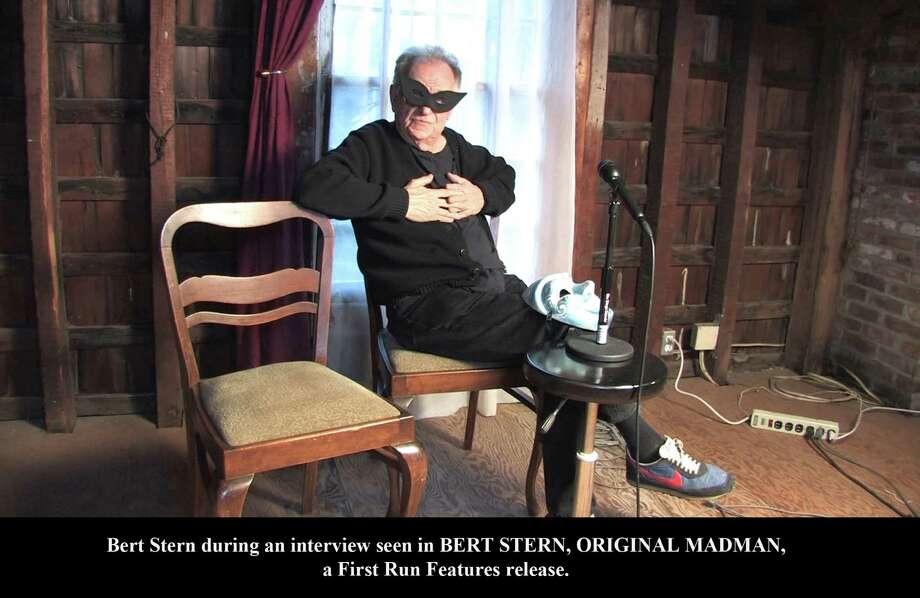 âÄúBertMask.âÄù Bert Stern behind a mask during an interview From the film BERT STERN THE ORIGINAL MADMAN, a First Run Features release