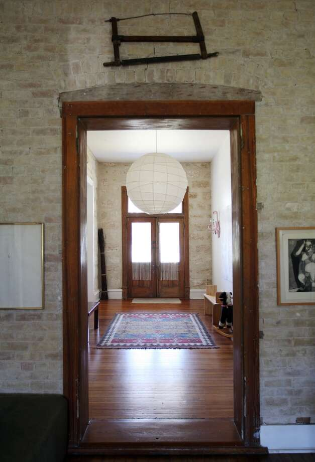 A view from the kitchen to the foyer at the Johanna and Ziad Sawalha house on Lavaca Street, Tuesday, Oct. 30, 2012. (San Antonio Express-News)